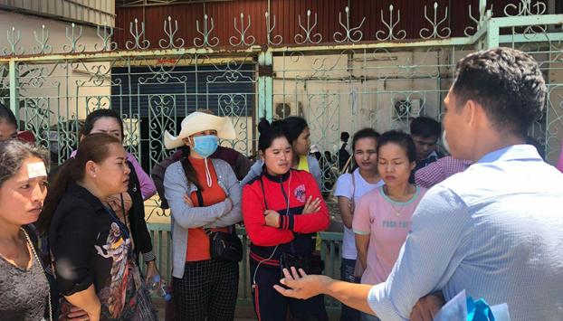 សកម្មភាពកម្មកររោងចក្រ ហ៊ឹង ជីង (Hoeng Chhing Garment Factory) ក្នុងសង្កាត់ស្ទឹងមានជ័យ រាជធានីភ្នំពេញ នាំគ្នាធ្វើបាតុកម្ម ទាមទារប្រាក់រំលឹកអតីតភាពការងារពីថៅកែ នៅថ្ងៃទី១៤ ខែសីហា ឆ្នាំ២០១៩។